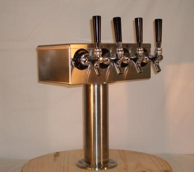 4 Tap T Beer Tower