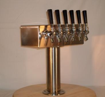 6 Tap T Beer Tower
